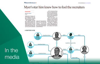 Via The Australian: Myer's Star Hire Knew How to Fool the Recruiters