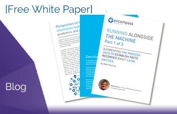 [White Paper] Running Alongside The Machine Part 1 of 3
