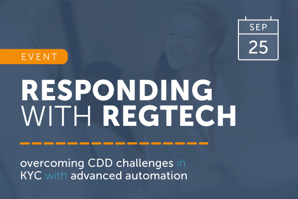 Responding with RegTech | Mon 25 Sep | encompass events