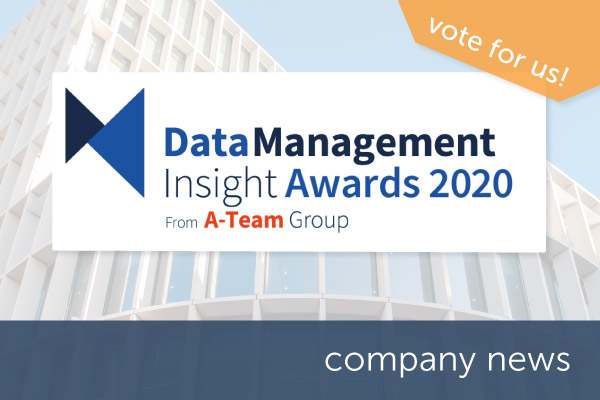 Encompass shortlisted for Data Management Insight Award 2020 | Encompass company news
