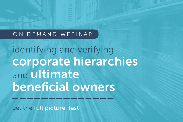 identify and verify corporate hierarchy and ultimate beneficial owner | encompass on demand webinar
