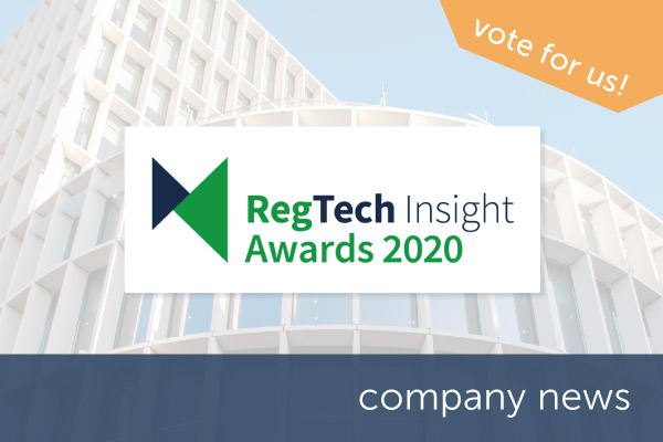 Encompass shortlisted in the RegTech Insight Awards 2020 | Encompass company news