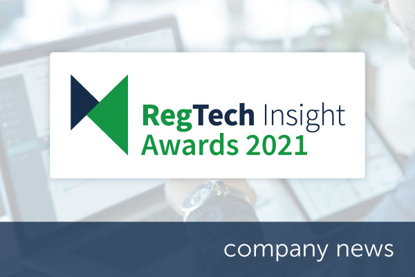 Encompass shortlisted in the RegTech Insight Awards 2021